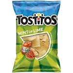Tostitos Tortilla Chips Restaurant Style White Corn Hint of Lime  10.5 OZ BAG